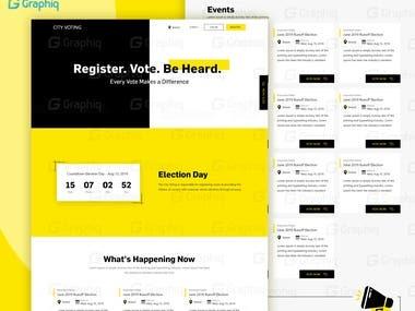 Online Voting website.