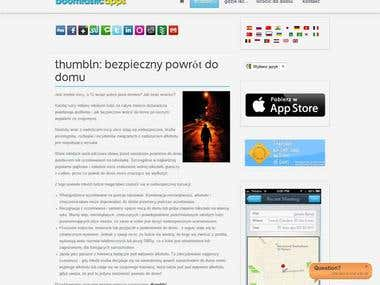 Polish version of  Thumbln application for iPhone