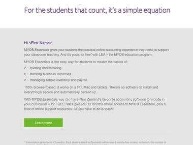 The MYOB Education Kit Campaign