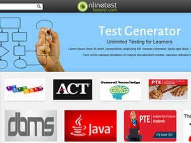 Online test portal