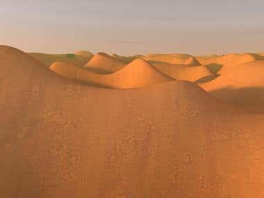 Desert Land Scape