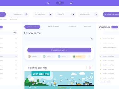 E-Learning Platform UI design