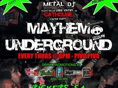 Mayhem Underground Poster