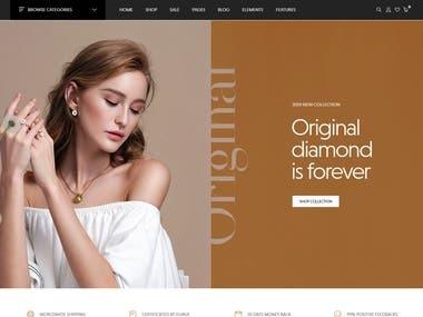 Jewelry website using MERN stack