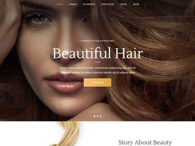 Wordpress Beauty Website