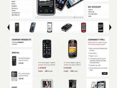 Electronics online store website