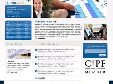 Dundee wealth corporate website smarty php canadian client