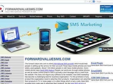 Forward value sms