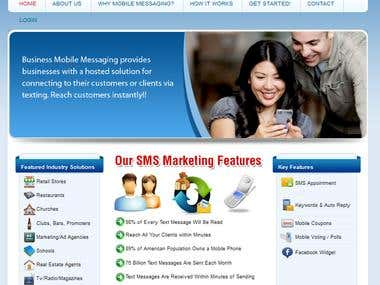 SMS Marketing Website