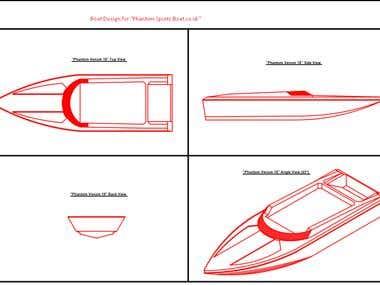 Boat Design in Autocad.