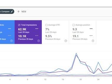 Google webmaster Status of last 1 month SEO