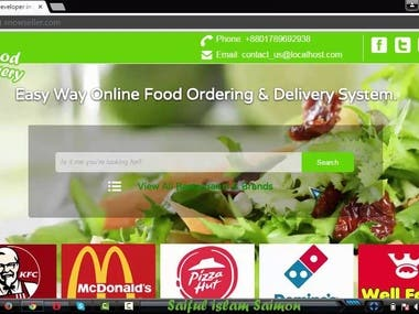 Ecommerce Store for Food Ordering
