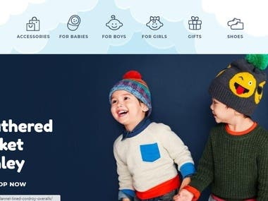 Kiddies Town Kids Ecommerce Store