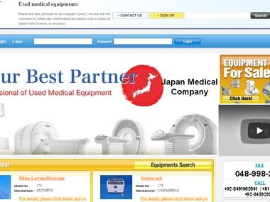 Medical Equipment Company Website