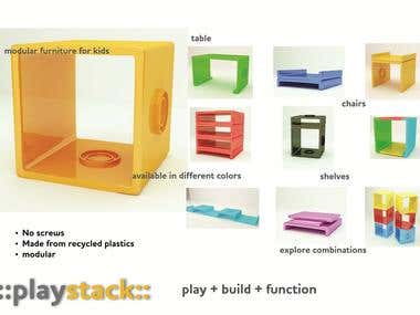 Playstack: modular furniture for kids