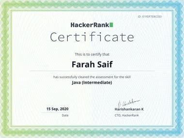 HackerRank - Java Intermediate
