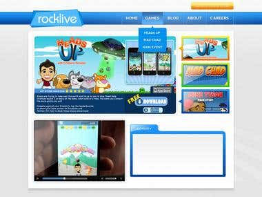 Website Design for Rocklive (Unfinished)