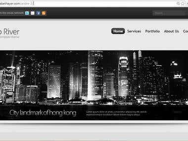 Convert a website template into responsive template.