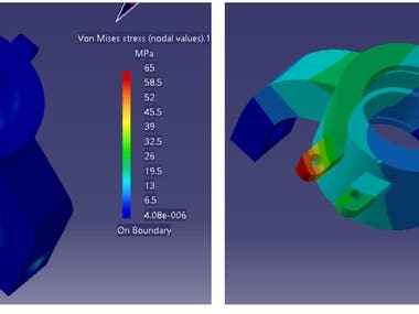 Knuckle analysis in CATIA