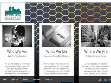 PitsburghRecommerce Website