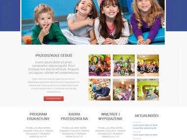 Kindergarten website (przedszkolecedus)