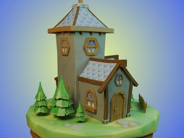 Stylized House 3D Game Assets