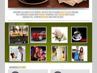 Review website design