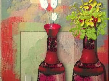 3d flowe Vase