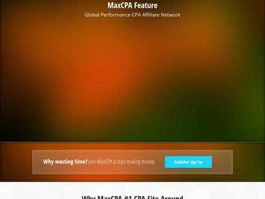 MaxCPA.org - Global Performance CPA Affiliate Network
