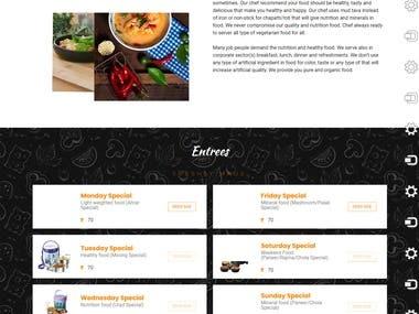 Online Food Delivery Website