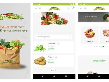 SobjiBazaar(Grocery App) | Flutter