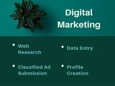 Lead Generation, Web Research, Link Wheel, Classified Ad