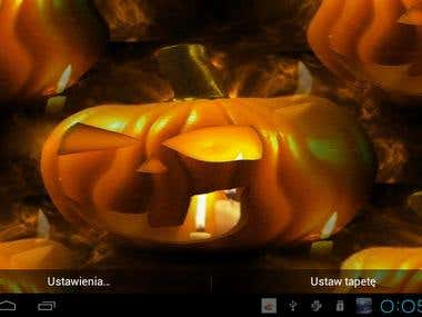 Halloween Live wallpaper with scary pumpkins