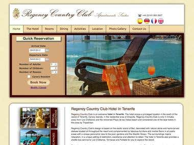 Regency Country Club Hotel's Website