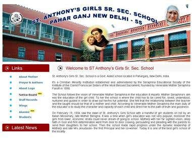 School Website with CMS based functionality