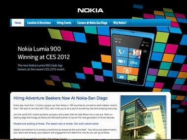 Nokia San Diego Recruitment Event's Website.