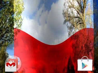 Poland Flag Live Wallpaper