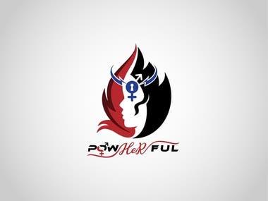 powherful logo design