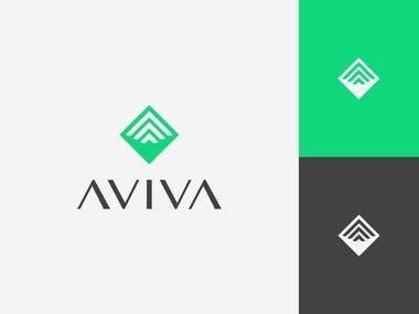 AVIVA Branding Logo