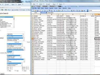 Data Extraction from school websites