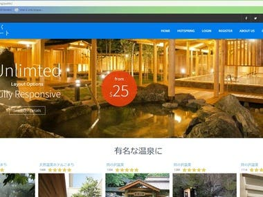 hotspring booking site with laravel