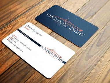 Business Card design for Freedom Yacht