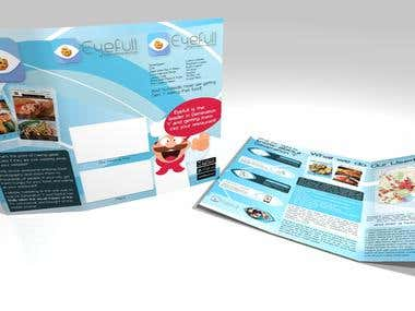 Tri Fold Brochure for Eyefullfood