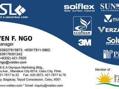 Mr. Ngo (WSL) Calling Card