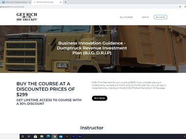 E-Learning website made for Jada Trucking Empire