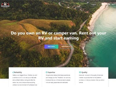 Motorhom Rental BookingWebSite.