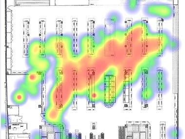 Shop Floor Visitor Heat Map