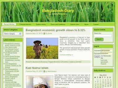 Bangladesh-Diary, Article Directory