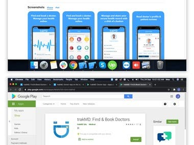 trakMD: Find & Book Doctors ( Android & ios application)