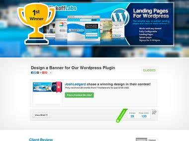 Design a Banner for Our Wordpress Plugin